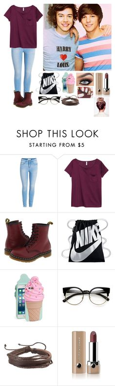 """""""Meeting Louis and Harry for the First Time"""" by ch0nce1d ❤ liked on Polyvore featuring H&M, Dr. Martens, NIKE, Kate Spade, Zodaca and Marc Jacobs"""