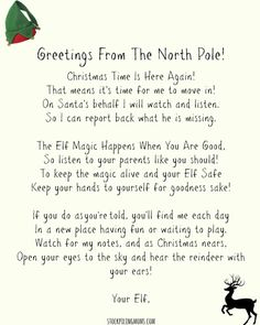 Letter From Elf To Naughty Kid Free Printable When Your