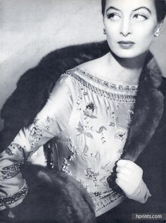 Pierre Balmain 1955 Blouse brodée, Lesage Embroidery, Capucine, Photo Henry Clarke