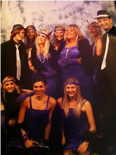 The Nobull Team dressed as gangsters and flapper girls for a charity ball. Top row (L-R): Dane, Vic, Bobbie, Anne-marie, Pauline, Steve. Bottom row (L-R): Margaux, Zoe, Ali.
