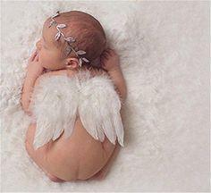 Oferta: 3.32€ Dto: -45%. Comprar Ofertas de Interesting® recién nacidos apoyos de la fotografía del bebé infantil Ángel blanco de la pluma de las alas de la pluma del ap barato. ¡Mira las ofertas!