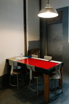#mondrian table from Glass Shop
