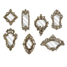 7 Piece Loletta Wall Mirror Set - would love a mirror gallery wall!