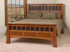Antique Wooden Beds | Amish Bridgeport Antique Mission Bed