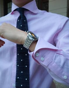 Regattas and Repp Ties — The cocktail cuff. Paired with a cutaway club...