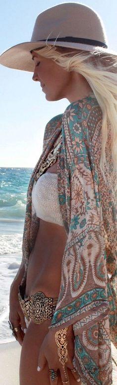 #gypsylovinlight #coachella #hippie #style #spring #summer #inspiration |Gypsy spirit beach outfit idea