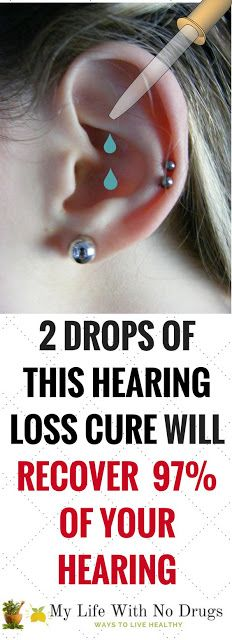 2 Drops Of This Hearing Loss Cure Can Recover 97% Of Your Hearing