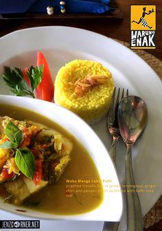Warung Enak  Jl. Pengosekan Ubud – Bali Open daily 11 am to 12 midnight ph. +62 (361) 972911  http://www.warungenakbali.com