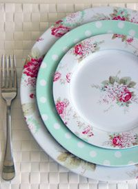 DIY Melamine Plates & Untitled | Dishes Retro and Pastels