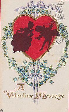 A Valentine Message Postcard