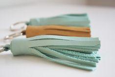 DIY Leather Tassel Key Chains   Katie Kime  