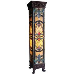 Art Nouveau Stained Glass Tiffany Style Pedestal Floor Lamp Can't you imagine this in a great hall filled with dark antiques? Stained Glass Art, Stained Glass Mosaic, Mosaic Glass, Lamp, Beautiful Lamp, Tiffany Glass, Glass, Stained Glass Lamps, Pedestal Floor Lamp