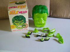Vintage 1980 Marvel Comic Incredible Hulk Head by Durham | eBay
