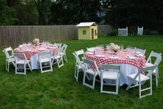 red gingham tablecloths
