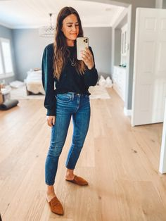 Jeans Outfit Winter, Mom Jeans Outfit, Work Attire, Spring Outfits, Winter Outfits, Cute Casual Outfits, Casual Looks, Fashion Outfits, Boyfriend Jeans