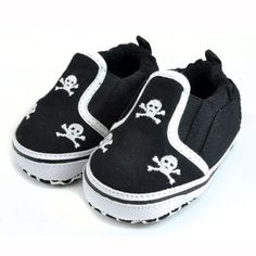 3 Skull Black & White Slip On Shoes  http://www.punkbabyclothes.net/shop/product_info.php?cPath=21_125_42_id=9364
