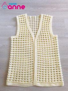 Crochet vest models with caption Crochet Vest Pattern, Crochet Jacket, Crochet Stitches Patterns, Jacket Pattern, Crochet Cardigan, Crochet Designs, Baby Knitting, Crochet Baby, Knit Crochet