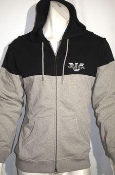 Armani jeans colorblock fleece zip hoodie sweater jacket size xl NEW on SALE #ArmaniJeans #Hoodie
