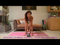 KILLER STRENGTH, CARDIO, ABS w/KETTLEBELL/DUMBBELL . THE TRIPLE THREAT - YouTube