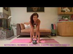 KILLER STRENGTH, CARDIO, ABS w/KETTLEBELL/DUMBBELL . THE TRIPLE THREAT - YouTube
