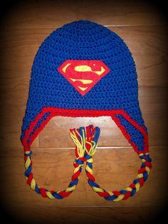 41 ideas for hat crochet baby boy kids Crochet Hats For Boys, Crochet Baby Hats, Crochet Beanie, Baby Knitting, Knitted Hats, Summer Knitting, Boy Crochet Patterns, Baby Hat Patterns, Superman Crochet