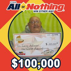 all or nothing lottery numbers iowa