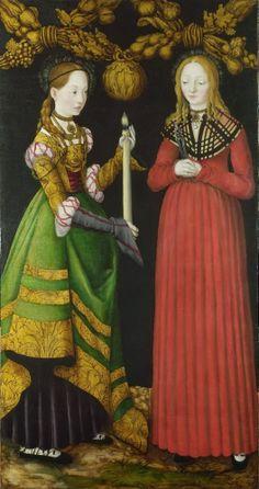 Lucas Cranach Santos Genevieve e Apolônia