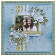 June Merly Crop layout using Kaisercraft Secret Garden collection. Scrapbooking Layouts, Scrapbook Pages, Love You All, Projects To Try, Kit, June, Frame, Inspiration, Memories