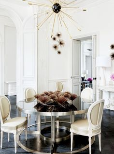 The Secrets To Styling Your Home Like A Parisian Round Dining TableDining