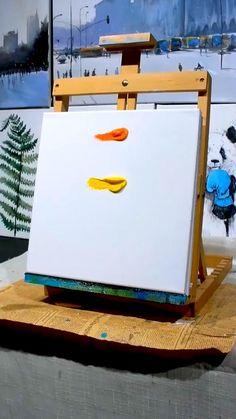 Canvas Painting Tutorials, Diy Canvas Art, Diy Painting, Painting & Drawing, Art Painting Gallery, Oil Pastel Art, Art Lessons, Art Drawings, Paintings