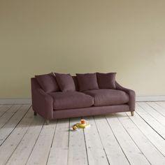 Medium Oscar - Gorgeous Upholstered Sofas Online Oscar in blackcurrant brushed cotton - Sofas | Loaf