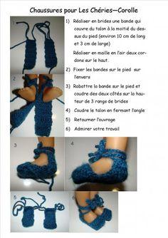 Patron de tricot pour chaussures pour Les Chéries
