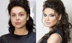 One more time! LOOK at what makeup and a little hairstyling can do for you!