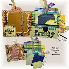 Loving Life Mini Scrapbook Album Personal by heirloomsbylorraine