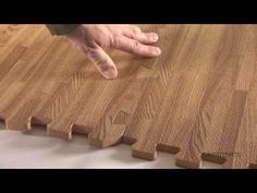Interlocking floor tiles with a wood grain foam tile look. These interlocking foam tiles offer a durable and soft flooring surface in wood tile design. Laminate Tile Flooring, Foam Flooring, Wood Tile Floors, Rubber Flooring, Wood Tiles Design, Foam Floor Tiles, Interlocking Floor Tiles, Rock Floor, Diy 2019