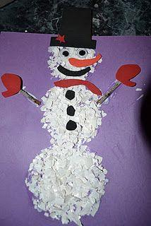Snowman Eggshell craft