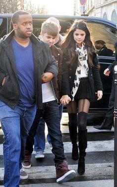 Walking hand-in-hand in Paris, France November 9, 2011