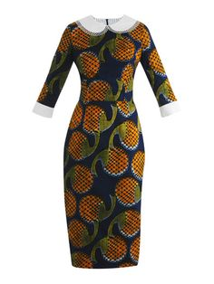Stella Jean, minus the dumb white collars African Inspired Fashion, African Print Fashion, Africa Fashion, Ethnic Fashion, Fashion Prints, Womens Fashion, Fashion Design, African Print Dresses, African Fashion Dresses