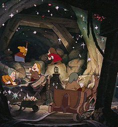 Snow White: Seven Dwarfs mining gif (Disney) Walt Disney, Disney Pixar, Disney And Dreamworks, Disney Animation, Disney Love, Disney Magic, Disney Wiki, Snow White 1937, Snow White 7 Dwarfs