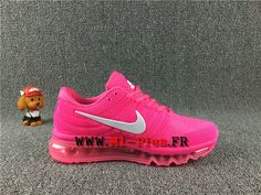 Nike Air Max 2017 Chaussures Nike Moins cher Running Pas Cher Pour Femme rose / blanc