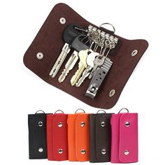 Fashion gifts Keys holder Organizer Manager patent leather Buckle key wallet case car keychain for Women Men brand #04