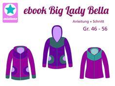 """Nähanleitung und Schnitt """"Big Lady Bella"""" Damenjacke mit Vorderteilpasse.  ©mialuna24.de"""