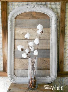 """Full view... Love this... """"Framed Pallet Wood Backdrop in Warm Neutral Colors from Denise on a Whim"""""""