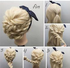 Easy Step by Step Hair Tutorials for Long, Medium and Short Hair frisuren frauen frisuren männer hair hair styles hair women Up Hairstyles, Pretty Hairstyles, Step By Step Hairstyles, Teenage Hairstyles, School Hairstyles, Easy Elegant Hairstyles, Easy Wedding Hairstyles, Festival Hairstyles, Braids Step By Step