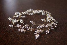 Bridal Hair Vine Tiara Wedding Hair Accessories Honey by LAmei