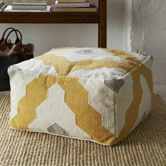 Bazaar Pouf | west elm- extra seating in living room
