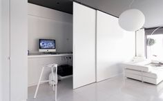 Large Sliding Doors What a great idea! Posted by Nelly Camacho -Greene Murs Mobiles, Interior Architecture, Interior Design, Building Architecture, Luxury Office, Living Room Interior, Interior Livingroom, Office Interiors, Windows And Doors