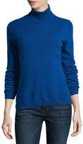 neiman marcus cashmere turtleneck sweater blue