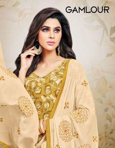 e17b071643 Kapil Gamlour cotton katha work print Suit (12 Pc Set). Shivkrupa Fashion