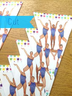 step by step guide on how to make your own gymnastics banner. Plus this fabulous free printable! Gymnastics Birthday, Party Themes, Party Ideas, Make Your Own, Make It Yourself, Goodie Bags, Halle, Step Guide, Free Printables